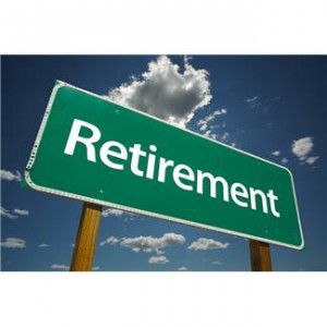 image of sign with Retirement text on it