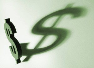 Image of dollar sign and shadow