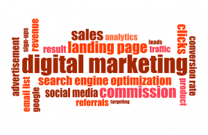 An image showing marketing text and words