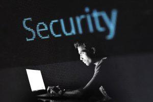 Image of hacker man in the dark