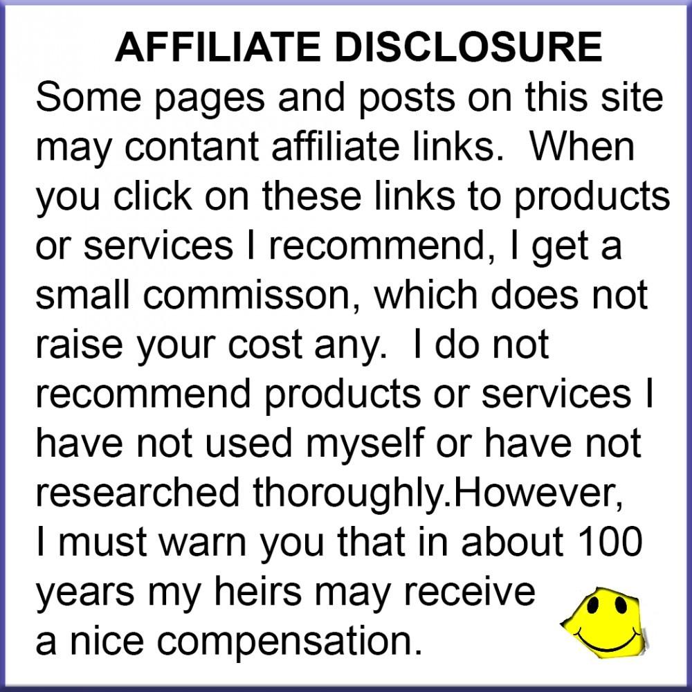 Affiliate Disclosure image