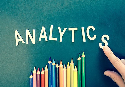 "Image of the fhe word ""Analytics"" spelled out"
